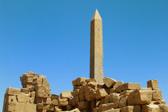 Obelisk in Luxor Egypt Stock Photos
