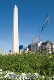 The Obelisk a major touristic destination in Bueno. S Aires, Argentina Royalty Free Stock Photography