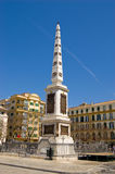 Obelisk in Malaga Royalty Free Stock Image