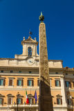 Obelisk of Montecitorio and Palazzo Montecitorio in Piazza di Mo Stock Images