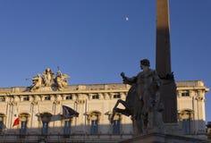 Obelisk of Montecitorio in Rome royalty free stock photo