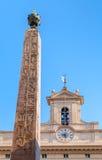 Obelisk Montecitorio, także znać jako Solare Obrazy Stock
