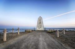 Portland Bill Obelisk. The obelisk near the lighthouse on Portland Bill near Weymouth on Dorset's Jurassic coastline Stock Images