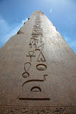 Obelisk no templo de Karnak fotos de stock