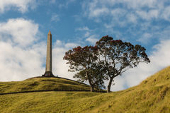 Obelisk at One Tree Hill monument in Auckland. New Zealand stock photos