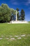 Obelisk op heuvel Gothard in Horice, Tsjechische republiek Royalty-vrije Stock Foto