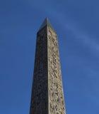 Obelisk på stället de la Concorde Arkivbild