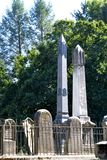 Obelisk pair royalty free stock images