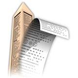Obelisk papertext Royalty Free Stock Image