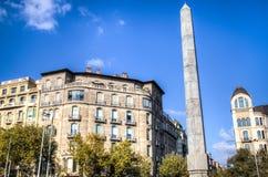 Obelisk on Passeig de Gracia, Barcelona Royalty Free Stock Image
