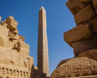 Hatshepsut Obelisk at Karnak Temple Stock Image