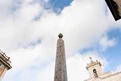 Obelisk on Piazza di Montecitorio, Rome Stock Photography