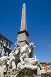 Obelisk at Piazza Navona in Rome Stock Images