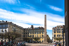The Obelisk of Piazza Savoia, Turin Royalty Free Stock Photo