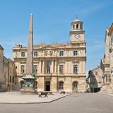 Obelisk on Place de la Republique. Arles, France Royalty Free Stock Photography