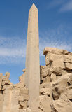 Obelisk at Precinct of Amun-Re in Egypt Stock Photo