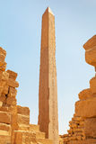 Obelisk of Queen Hapshetsut in Karnak Stock Photography