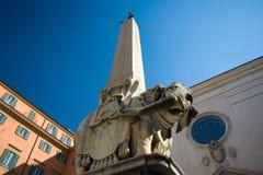obelisk romana słonia Zdjęcia Royalty Free