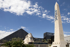 Obelisk Sign for Luxor hotel casino in Las Vegas Royalty Free Stock Photos