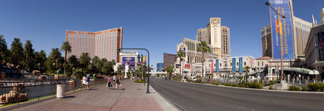 Panoramic view of the famous Las Vegas Strip  Royalty Free Stock Photos