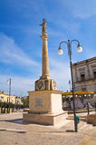 Obelisk of St. Rocco. Montescaglioso. Basilicata. Italy. Stock Photo