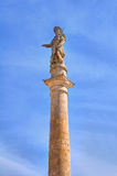 Obelisk of St. Rocco. Montescaglioso. Basilicata. Italy. Stock Photos