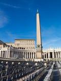 Obelisk Sts Peter fyrkant, Rome Arkivbild