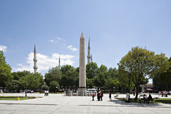 Obelisk and Sultan Ahmet Mosque Royalty Free Stock Photos