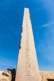 Obelisk in the temple of Karnak Royalty Free Stock Photography
