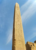 Obelisk in the territory of the Karnak Temple in Egypt Royalty Free Stock Images