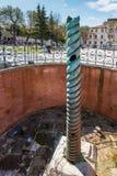 Obelisk Theodosius Egipski obelisk blisko Błękitnego meczetu Zdjęcia Royalty Free