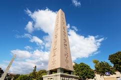 The obelisk of theodosius in Istanbul, Turkey. Royalty Free Stock Images