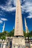 The Obelisk of Theodosius and minarets in Ist Royalty Free Stock Photos
