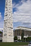Obelisk to Gugliermo Marconi placed in Rome Eur. Obelisk to Gugliermo Marcon. Rome Eur, Italy. 05/03/2019. The stele was created by the Carrarese sculptor Arturo royalty free stock images