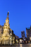 Obelisk to the Immaculate Virgin in Naples Royalty Free Stock Images