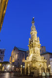 Obelisk to the Immaculate Virgin in Naples Stock Photo