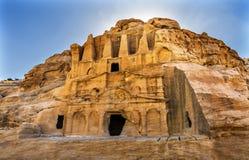 Obelisk Tomb Bab el-siq Triclinium Outer Siq Canyon Petra Jordan Stock Image