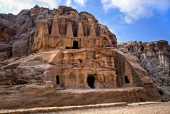 Obelisk Tomb in Petra royalty free stock photo