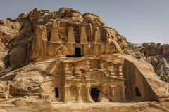 Obelisk tomb in the ruins of the ancient Nabatean city of Petra, Stock Photos