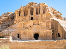 The Obelisk Tomb and Triclinium in Petra Royalty Free Stock Photos