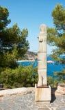 Obelisk at Tossa de Mar fortress Royalty Free Stock Photos
