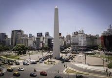 obelisk van Buenos aires, het centrum van het land Stock Foto