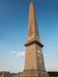 Obelisk van Luxor op de Plaats DE La Concorde Stock Fotografie