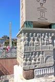 Obelisk van Theodosius in Istanboel, Turkije Royalty-vrije Stock Foto's