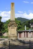 Obelisk, war monument Baden-Baden bright valley, on the cloister place. Obelisk, war monument city Baden-Baden bright valley, on the cloister place stock images
