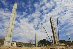 Obeliskar för UNESCOvärldsarv av Axum, Etiopien Royaltyfri Fotografi