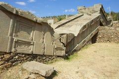 Obeliskar för UNESCOvärldsarv av Axum, Etiopien Arkivbild