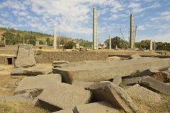 Obeliskar för UNESCOvärldsarv av Axum, Etiopien Royaltyfria Foton