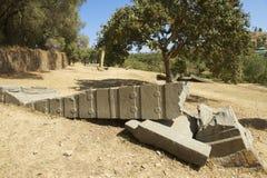 Obeliskar för UNESCOvärldsarv av Axum, Etiopien Arkivfoto