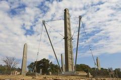 Obeliskar för UNESCOvärldsarv av Axum, Etiopien Arkivbilder